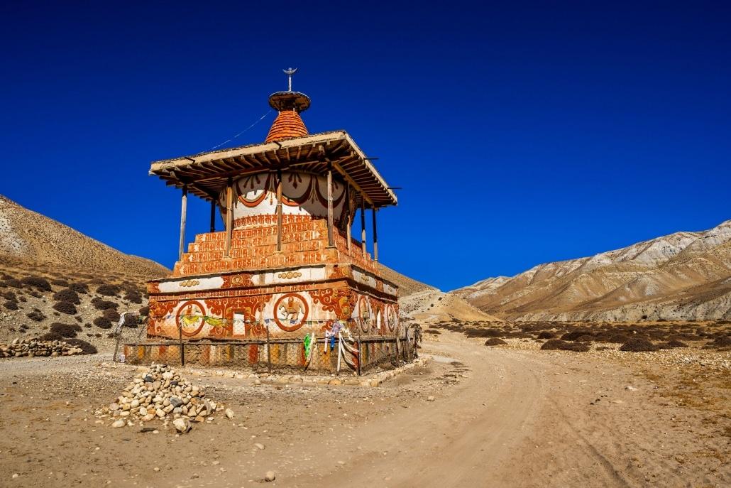 A Shrine Below Lo (day) La, Mustang, Nepal.