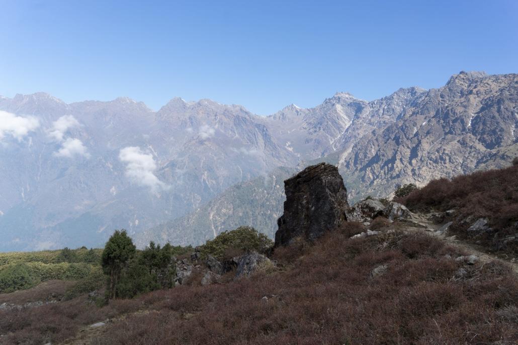 Nepal Trek In Nature Reserve Valley