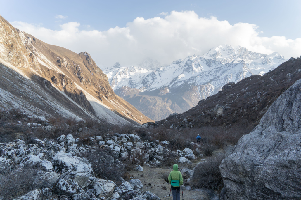 Tourists Himing In Trek Of Nepal